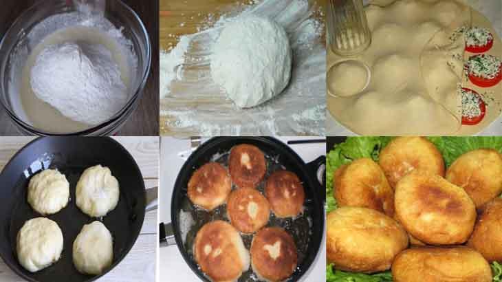 Пирожки, приготовление