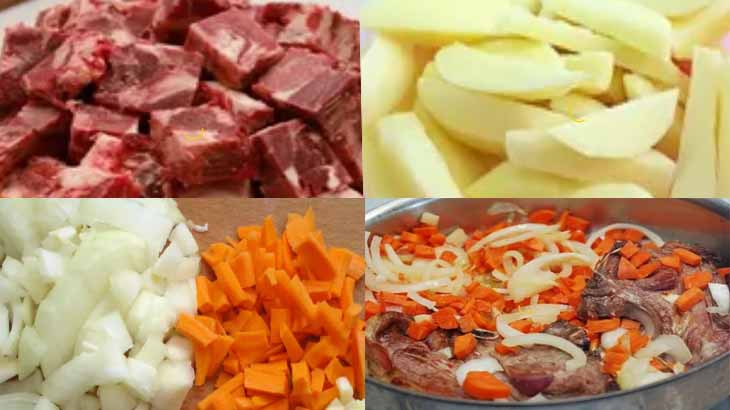 Приготовление баранины с картофелем