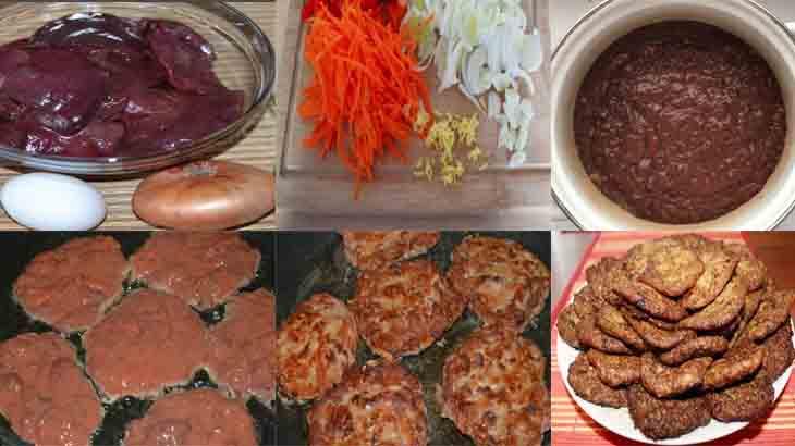 Способ приготовления печёночных оладьей