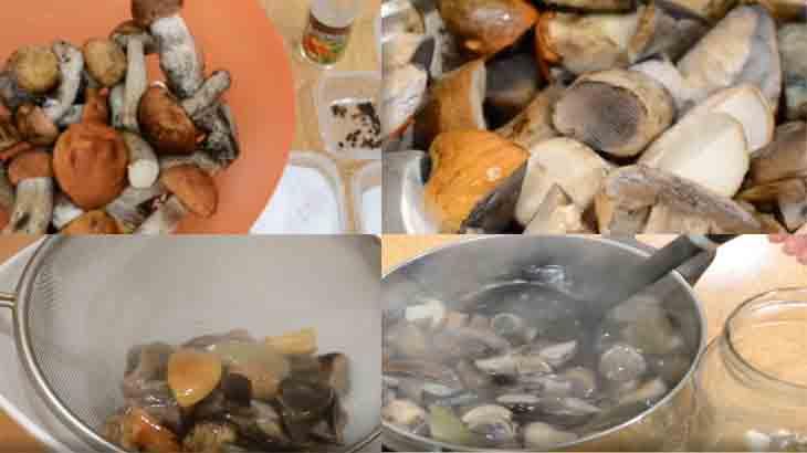 Приготовление маринованных грибов