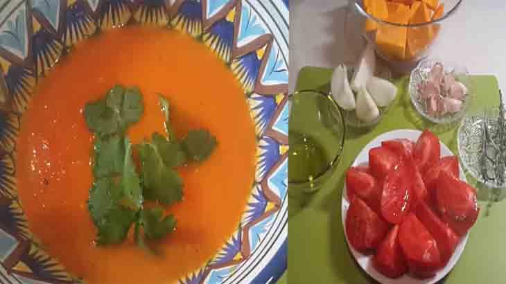 Суп томатный с тыквой