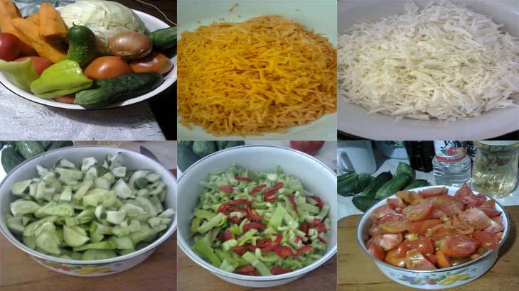 Салат ассорти на зиму ингредиенты