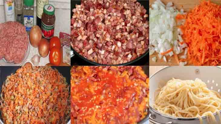 Приготовление соуса болоньезе