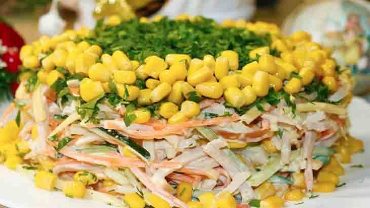 Салат из кальмаров без заправки