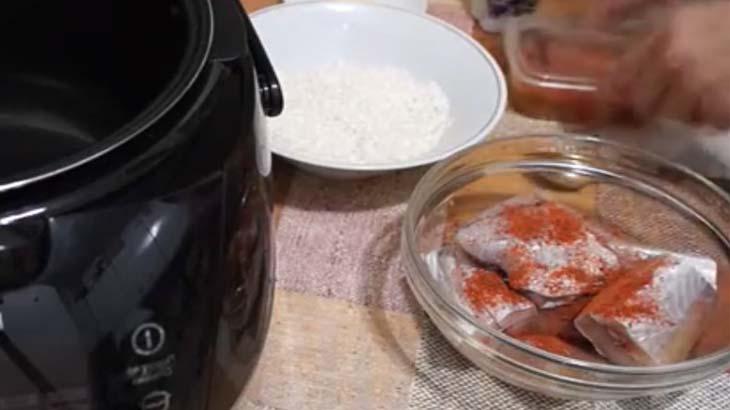 Рыба и рис