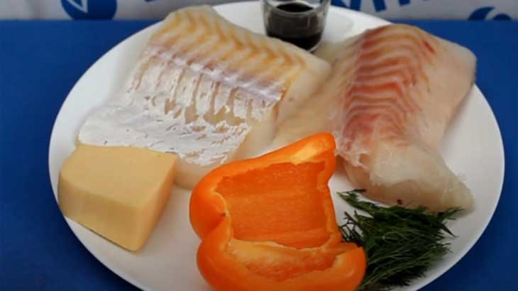 Рыбное филе и овощи
